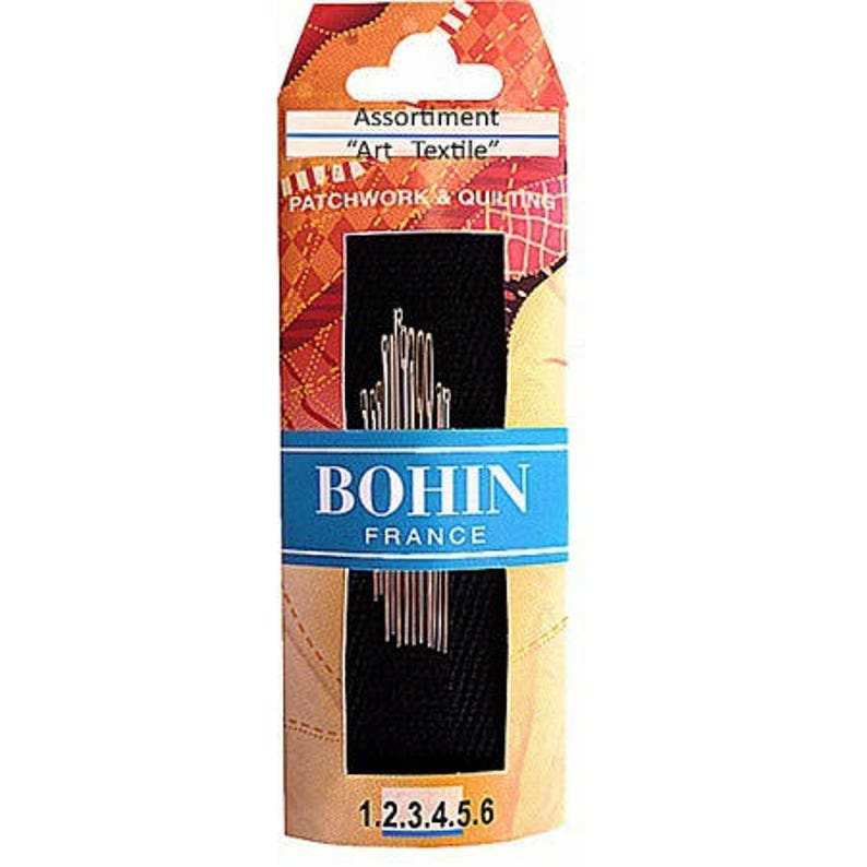 Hand needles Bohin assorted textile art  N1 to 6  Quilter image 0