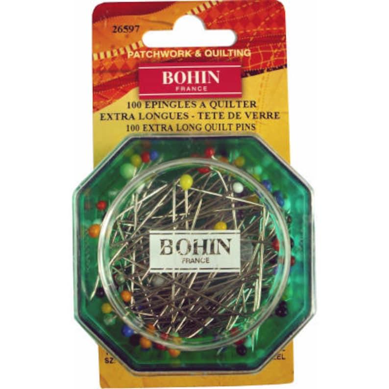 Quilter pins / Glass head pins / Bohin extra-long pins / 26597 image 0