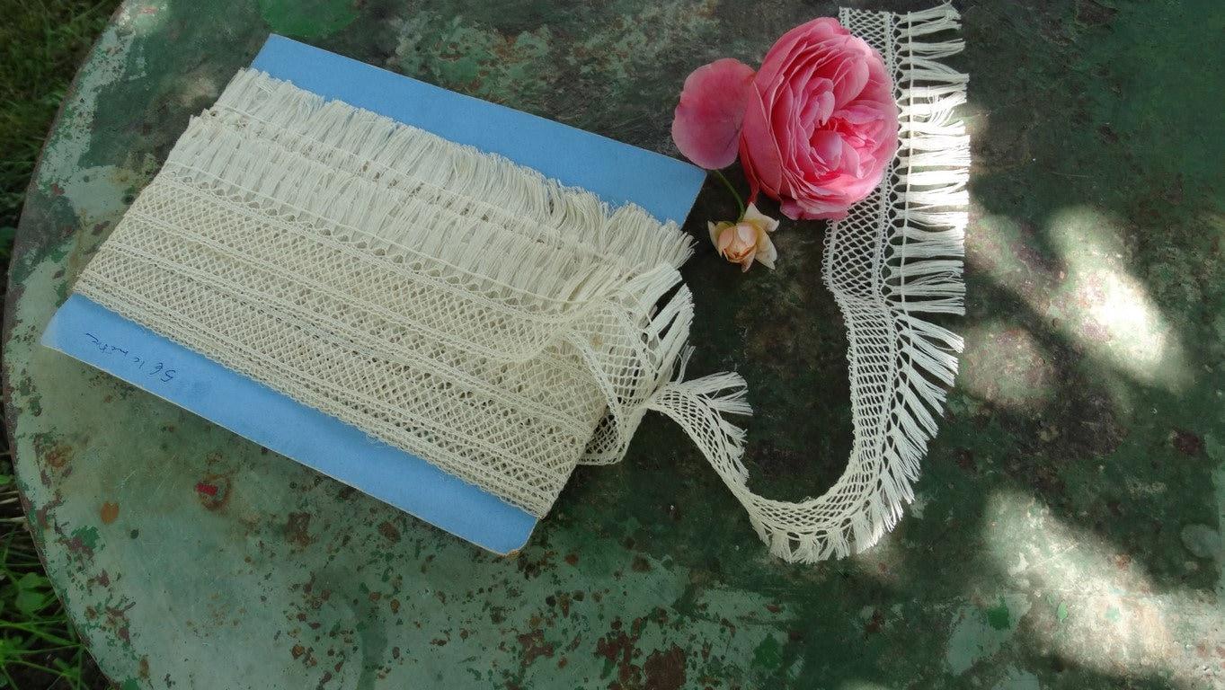 dentelle ruban à franges anciennes,dentelle écrue,dentelle pour passementerie,dentelle originale,galon ruban dentelle en dentelle,dentelle vintage,rideaux 88fdf1