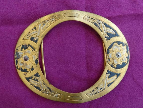 Boucle de ceinture vintage en métal année folle boucle   Etsy f4f4ffa0772