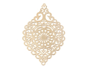 2 connector Marquise gold 58x38mm SC0102782 prints-