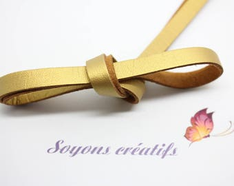 1 m Gold 8mm - creating jewelry leather strap