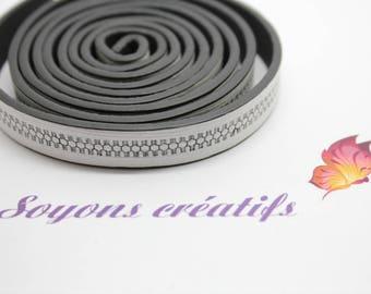 20cm 10mm black and white lanyard - creating jewelry-