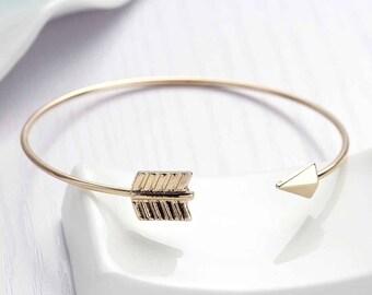 1 gold arrow open 16 cm - creating jewelry - SC78304 Bangle bracelet