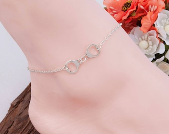 Lovely string of Anklet silver cuffs