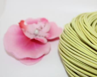 Yellow 2mm - creating jewelry leather cord 1 m