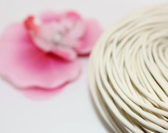 5 m of white 2mm - creating jewelry leather cord