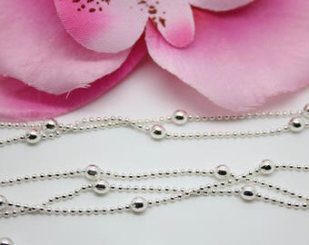 3 m ball chain 1.2 mm - 3 mm - SC61564 - creating jewelry-