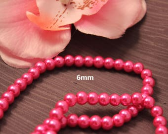 Set of 50 6mm Pearl Pink - creating jewelry-