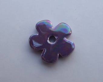FLOWER CERAMIC PURPLE 24MM