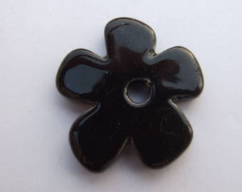 FLOWER CERAMIC BLACK 37MM