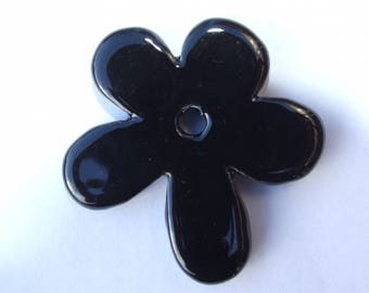 FLOWER CERAMIC BLACK 50MM