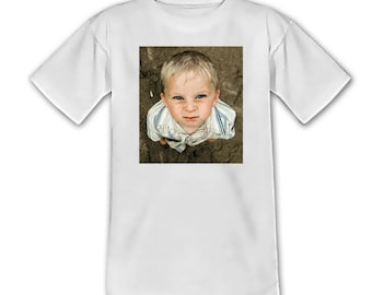 Kids tshirt personalized with your photo