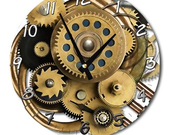 Designer wall clock gear