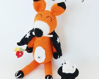 Schema uncinetto VOLPE MAGO animali amigurumi - Italiano