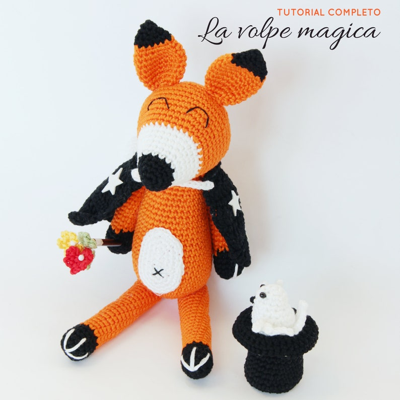 Schema uncinetto VOLPE MAGO animali amigurumi  Italiano image 0