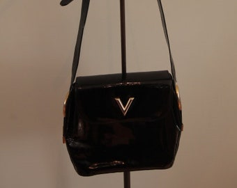 Black Patent Leather Valentino Handbag