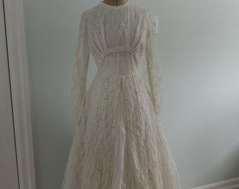 Early 1950's Wedding Dress with Crinoline