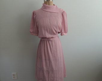 Late 1960's Pink Dress with Belt