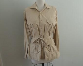 1980's Beige Safari Jacket