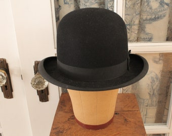 4f9f6920ded3 Vintage 1940's Bowler Hat with Ventilation Holes