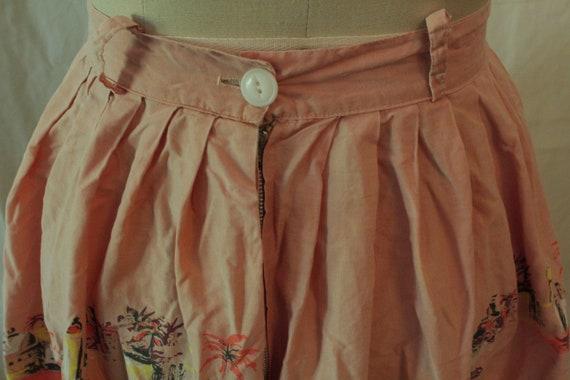 1950's Arabian Nights Print Novelty Skirt - image 4