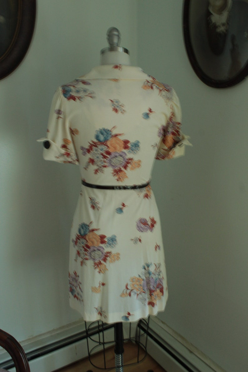 Late 1960\u2019s Dress with Belt and Plastic Buttons