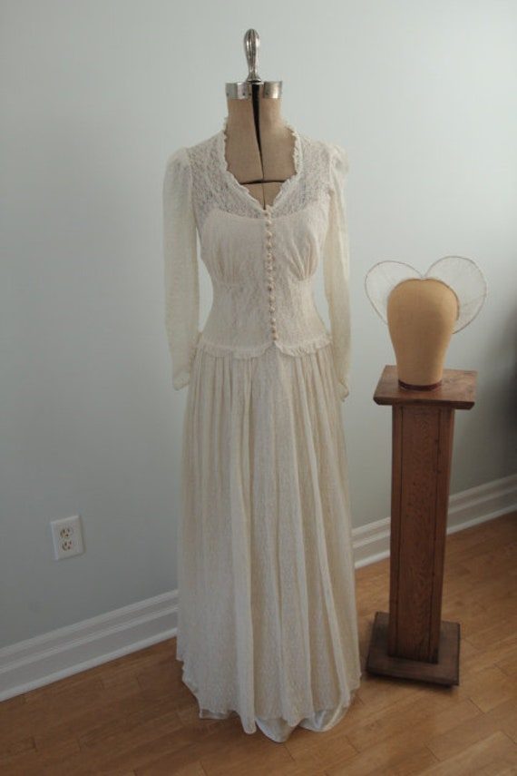 1940's Wedding Dress with Slip