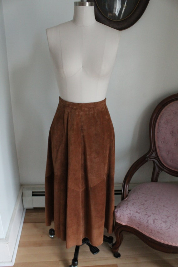 Brown Suede Brooks Brothers Maxi Skirt