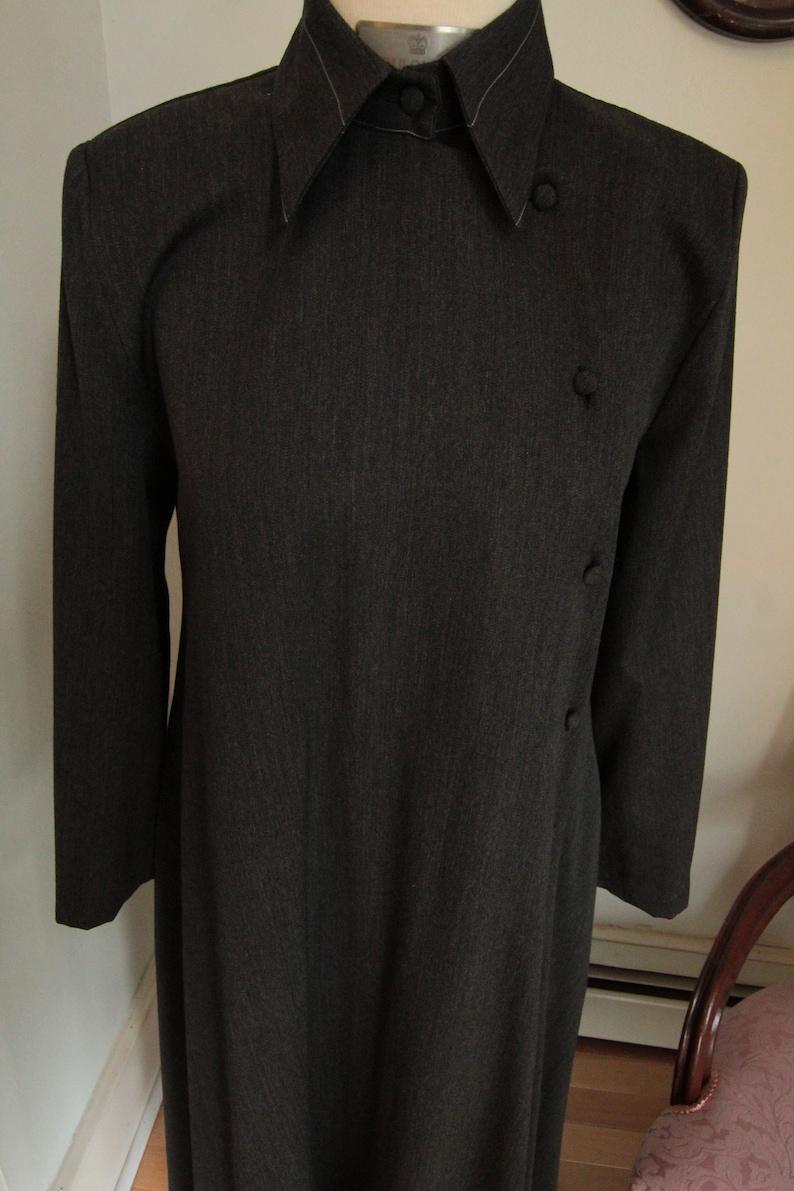 1980\u2019s Virginia Grey Wool Dress