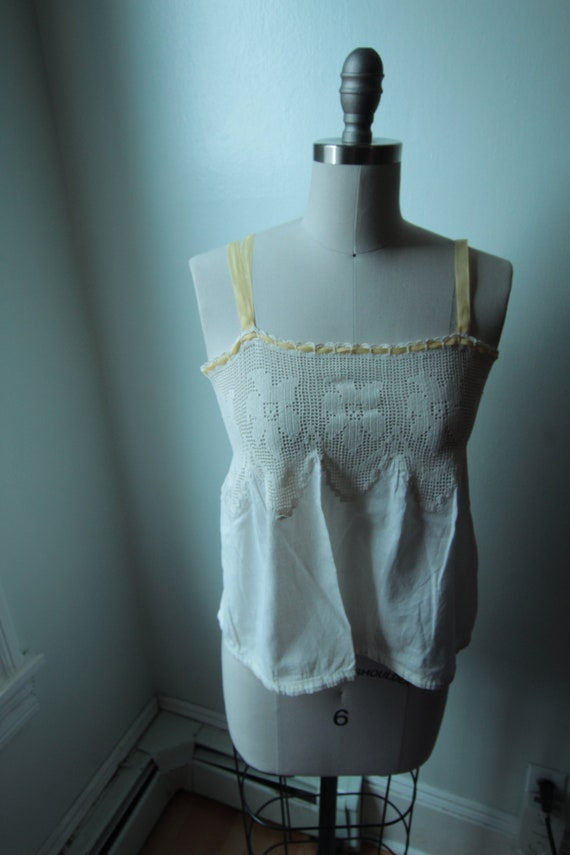 1910's Corset Cover with Crocheted Trim