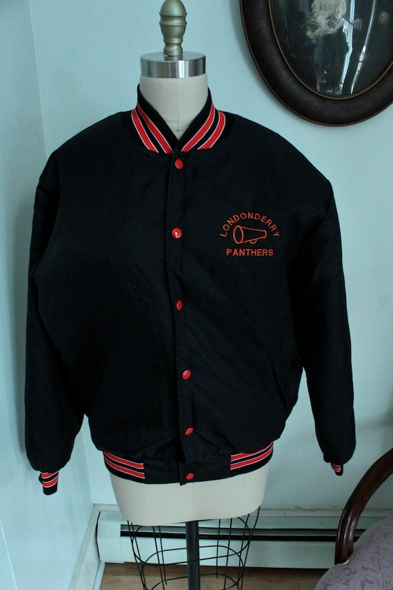 1990's Black Londonderry Panthers Varsity Jacket