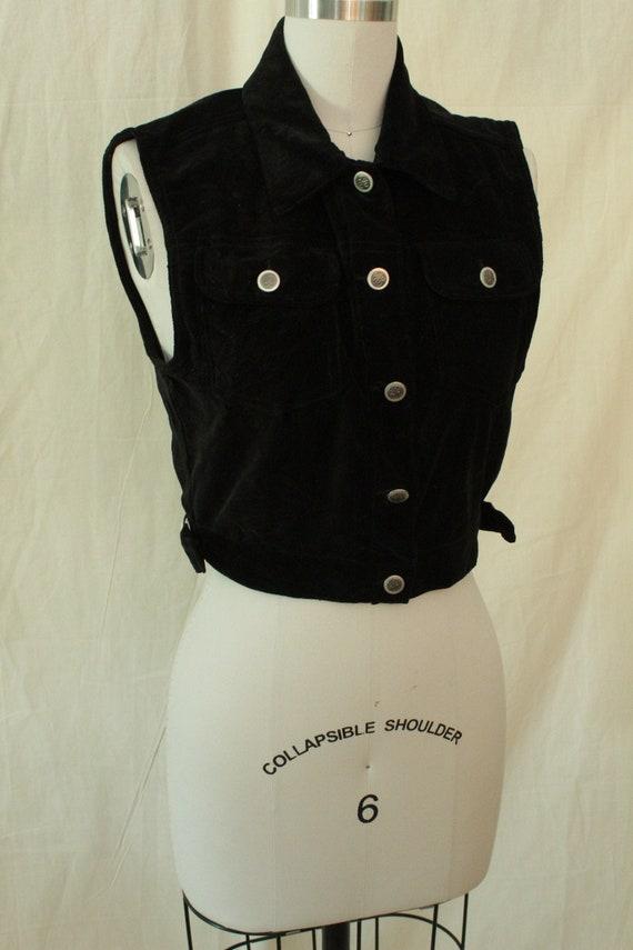 1980's Bill Blass Black Velvet Vest