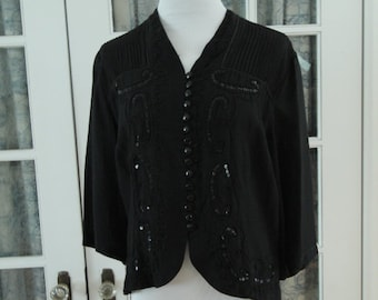 1980's Does 1920's Beaded Blouse