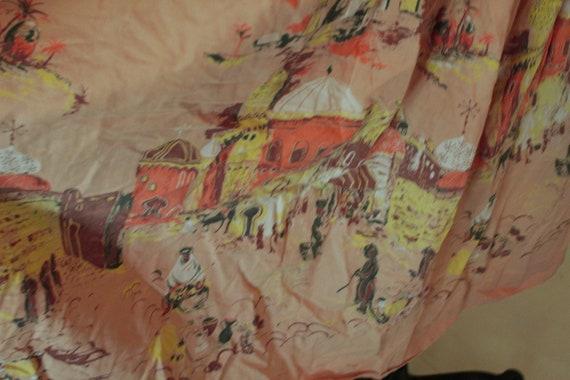 1950's Arabian Nights Print Novelty Skirt - image 5