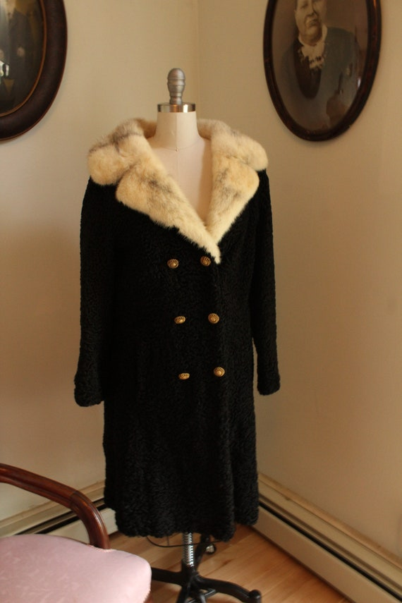 Full Length Mutton Coat With Arctic Fox Collar