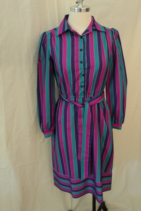 1970's Sears Striped Shirt Dress
