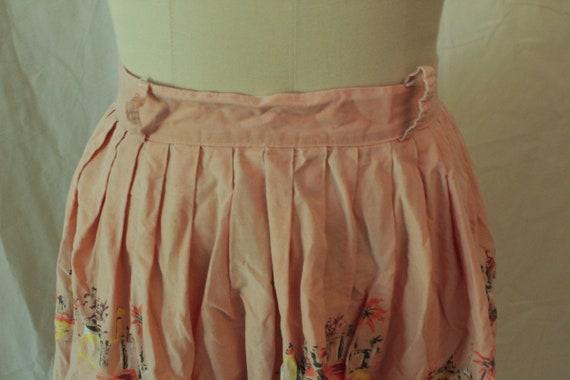 1950's Arabian Nights Print Novelty Skirt - image 2