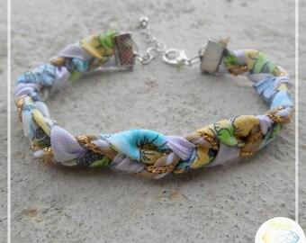Liberty fabric braided bracelet