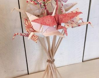 Bouquet of 12 origami cranes