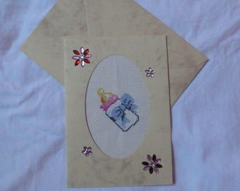 embroidered card pacifier