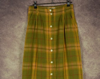 581bb91f85 DS_001) Vintage 50's 'PENNY BLACK' checkerd designer pencil skirt