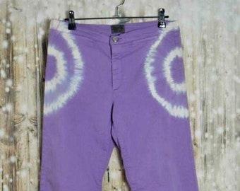 P_004) Vintage 90 's lavender denim stretch pants