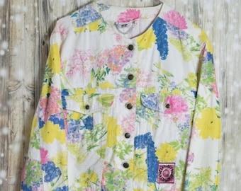 J_018) Vintage Merry Spring denim jacket