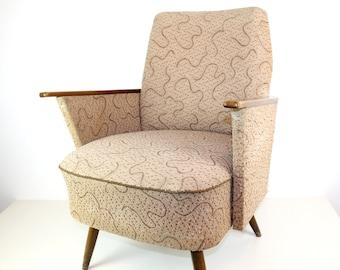 Vintage lounge chair in beige