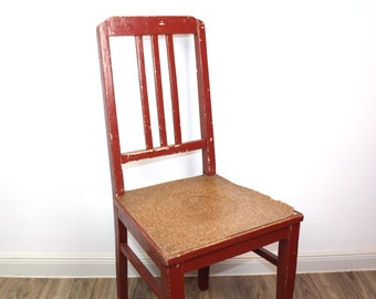 Kitchen chair in Shabby red   Vintage