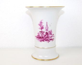 """Vintage Vase """"Highest"""" Porcelain   Gold rim"""
