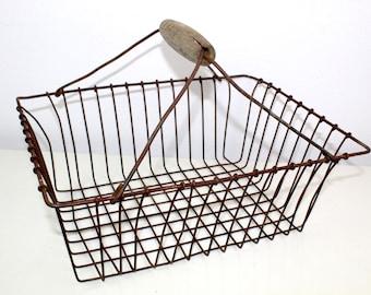 Antique metal basket