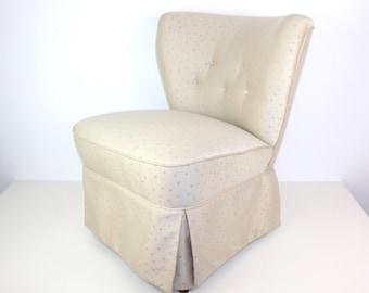Vintage Cocktail Chair   Beige