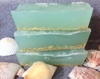 2 Caribbean Sea Soap, beach soap, Ocean soap, sea, Sea salt soap bar, Sea Kelp, beach,